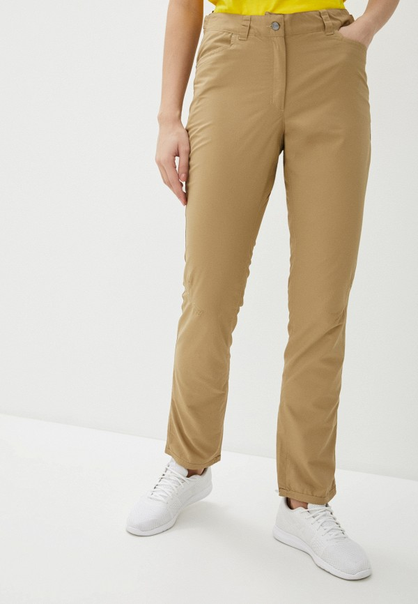 женские брюки icepeak, коричневые