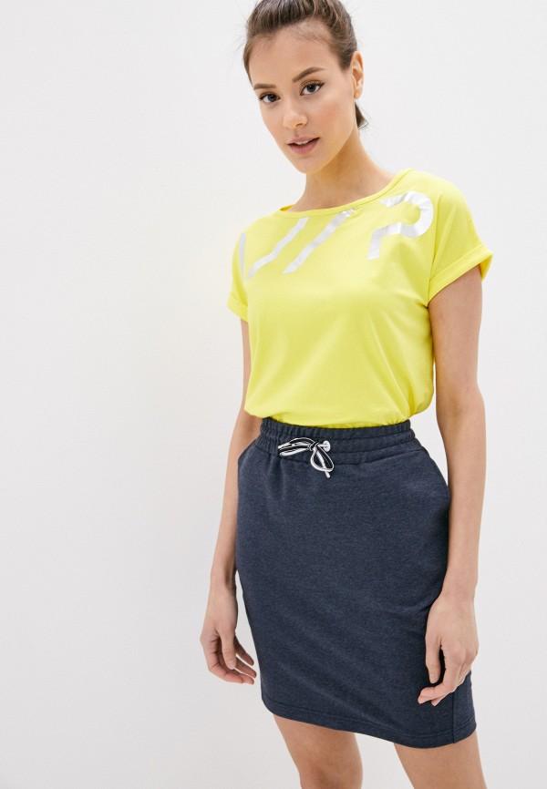 женская спортивные футболка icepeak, желтая