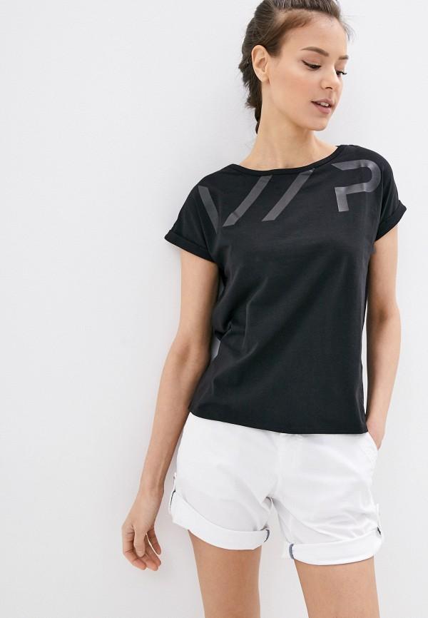 женская спортивные футболка icepeak, черная