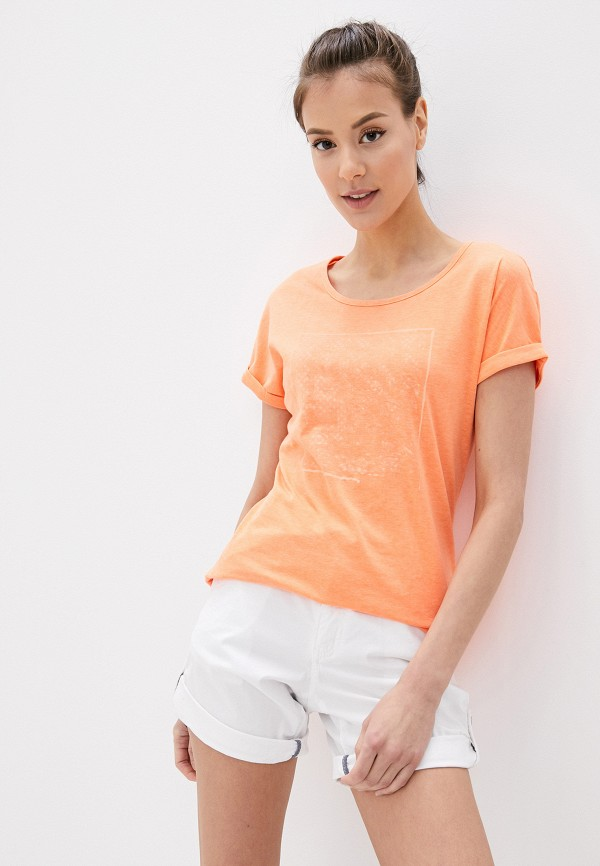 женская спортивные футболка icepeak, оранжевая