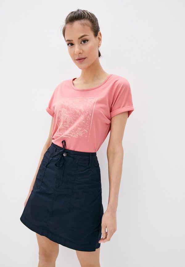 женская спортивные футболка icepeak, розовая