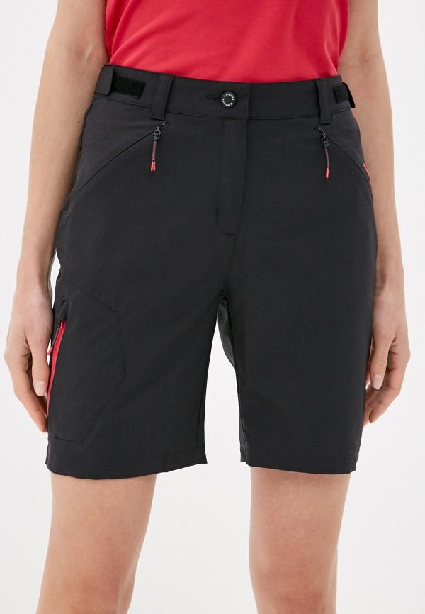 женские спортивные шорты icepeak, черные