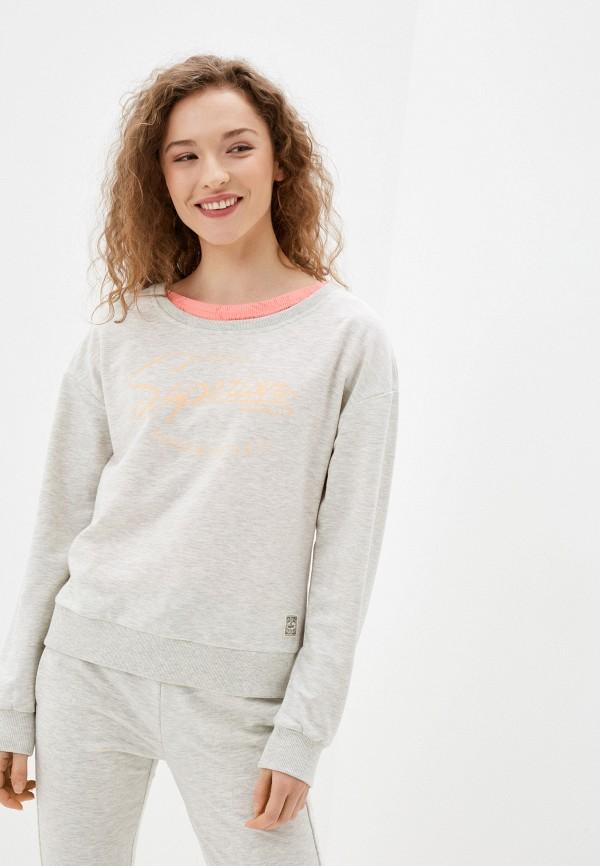 женский свитшот icepeak, серый