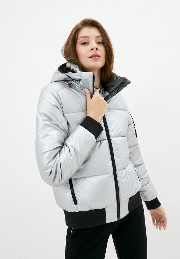 женская куртка icepeak, серебряная