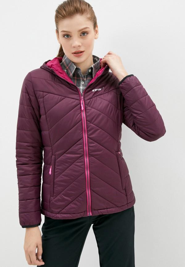 женская куртка icepeak, бордовая