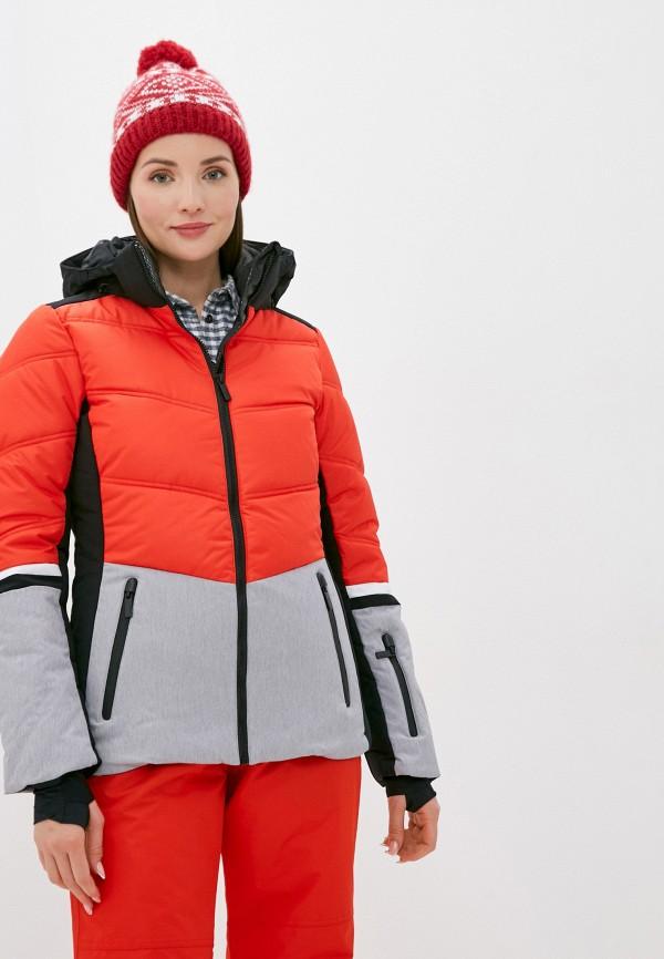 женская куртка icepeak, красная