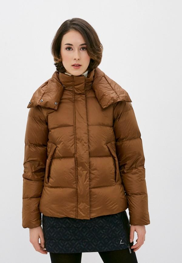 женский пуховик icepeak, коричневый