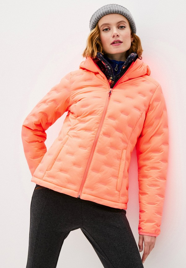 женская куртка icepeak, оранжевая