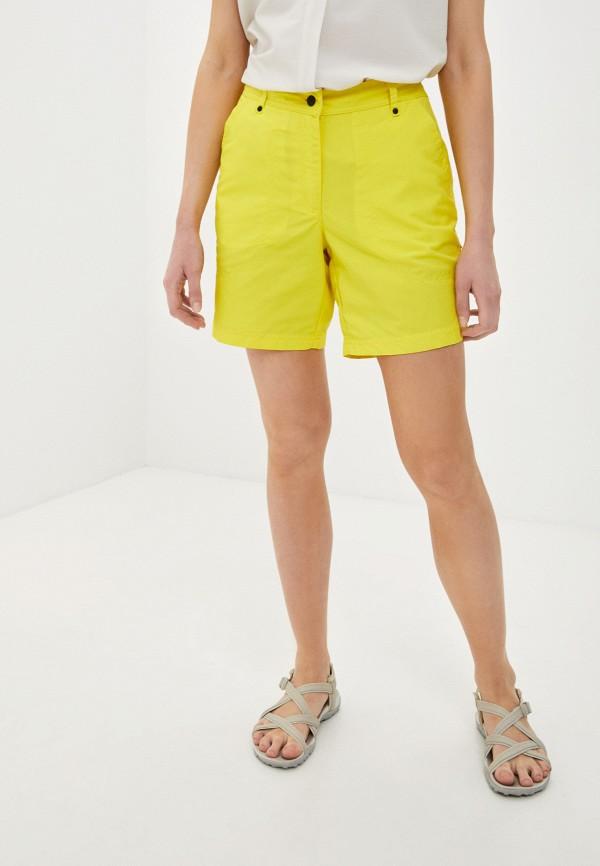 женские повседневные шорты icepeak, желтые