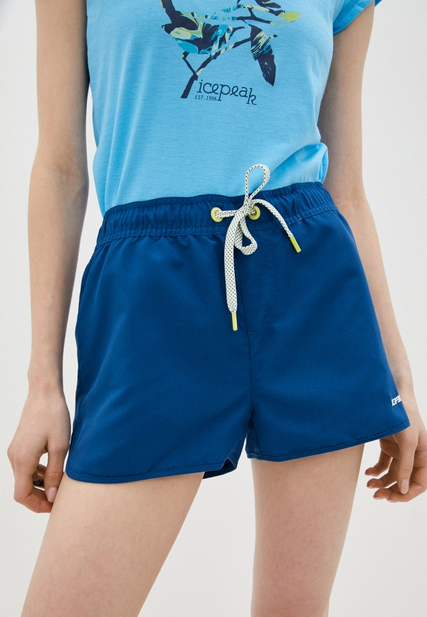 женские повседневные шорты icepeak, синие