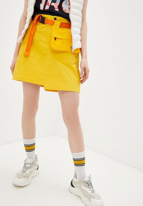 женская юбка-трапеции icepeak, желтая