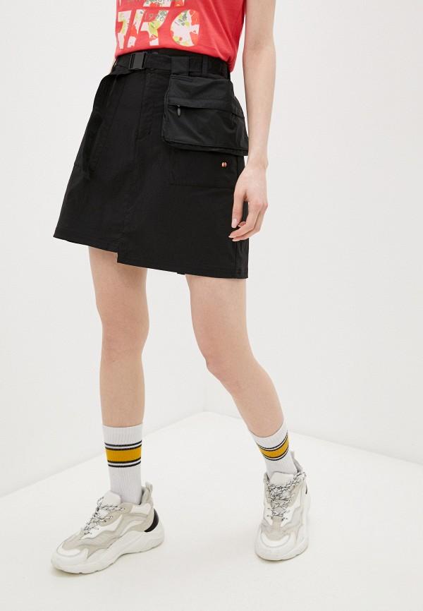 женская юбка-трапеции icepeak, черная