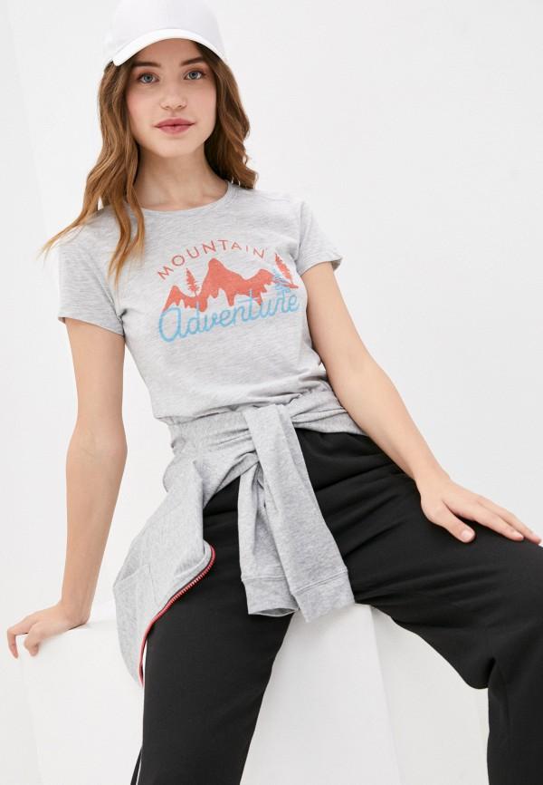 женская спортивные футболка icepeak, серая