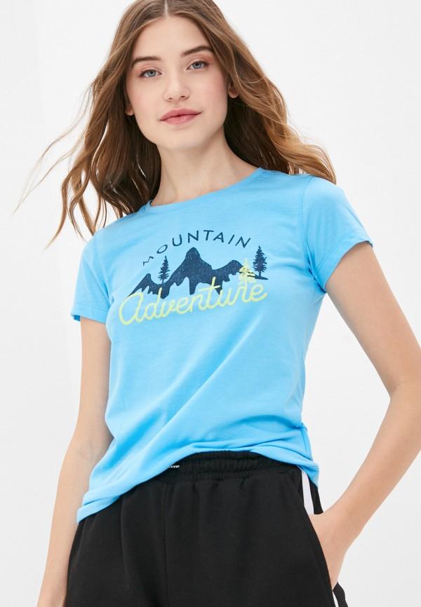 женская спортивные футболка icepeak, голубая