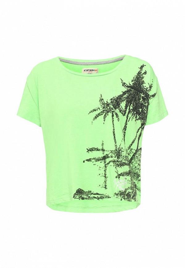 женская спортивные футболка icepeak, зеленая