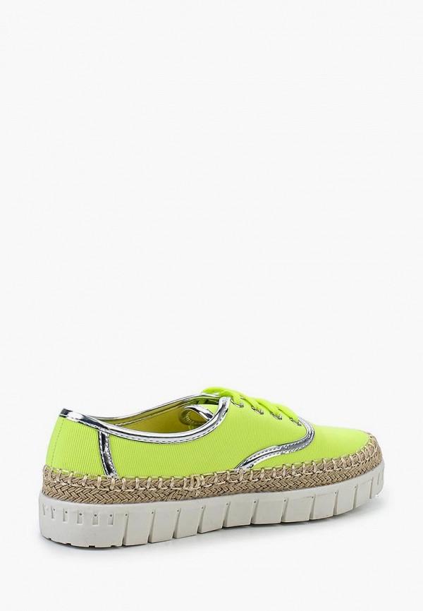 Фото 2 - Кеды Ideal Shoes желтого цвета