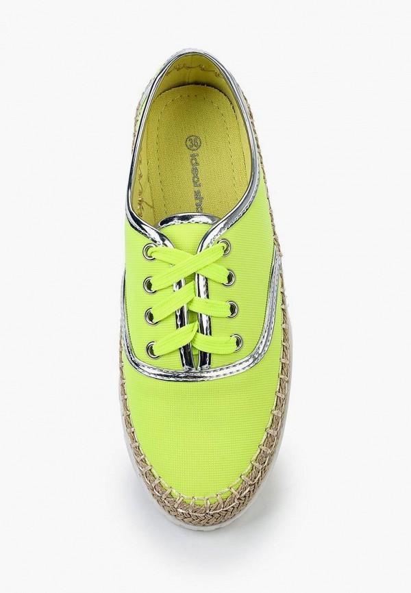 Фото 4 - Кеды Ideal Shoes желтого цвета