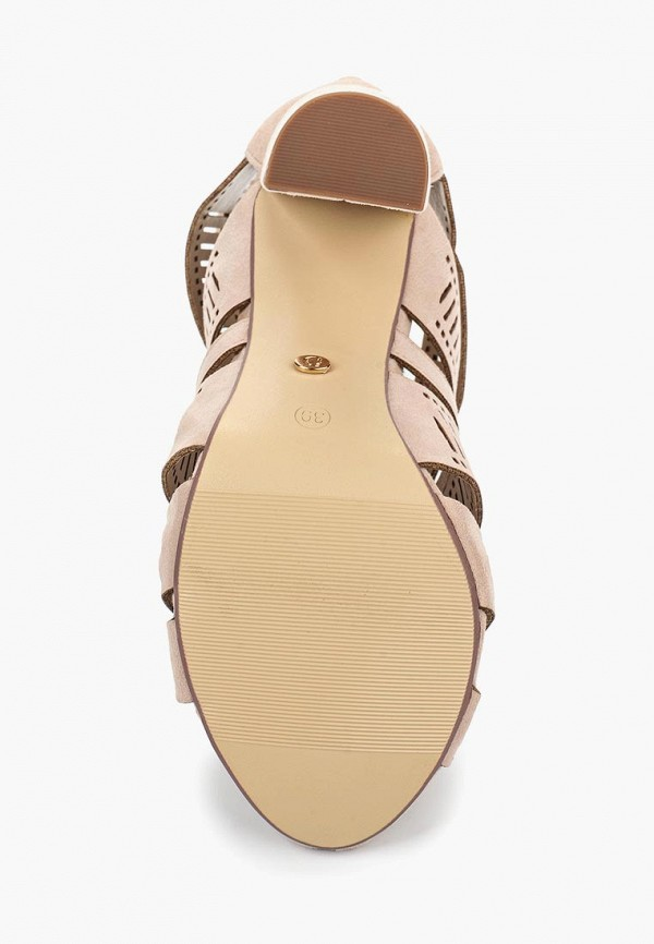 Фото 3 - женские ботильоны Ideal Shoes бежевого цвета