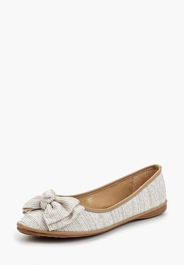 Купить Балетки Ideal Shoes, ID007AWANMX7, бежевый, Весна-лето 2018