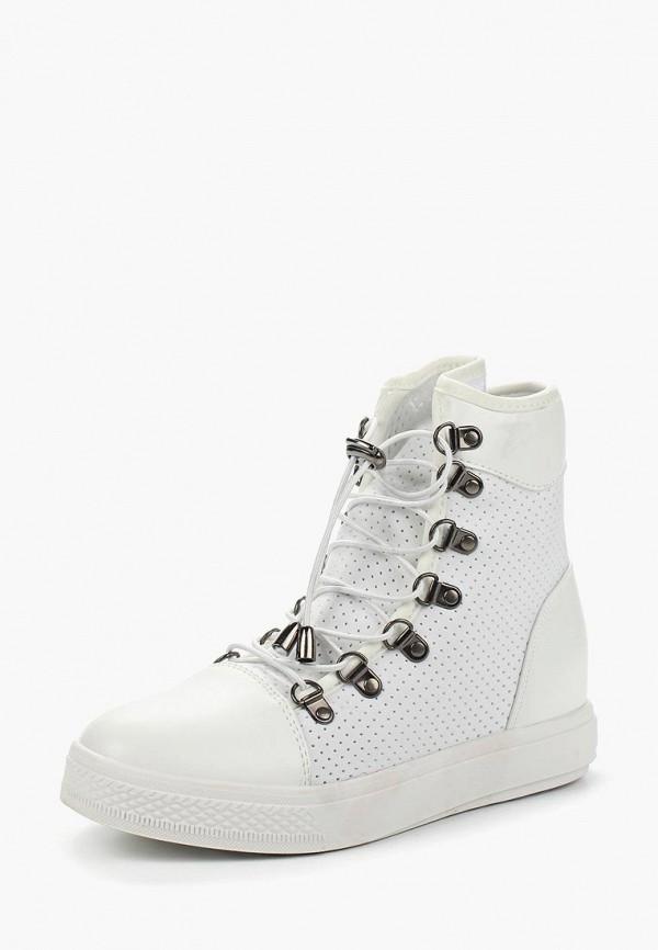Купить Кеды на танкетке Ideal Shoes, id007awanna9, белый, Весна-лето 2018