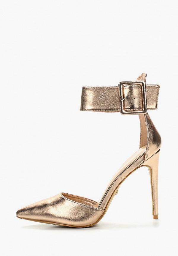 Купить женские туфли Ideal Shoes золотого цвета