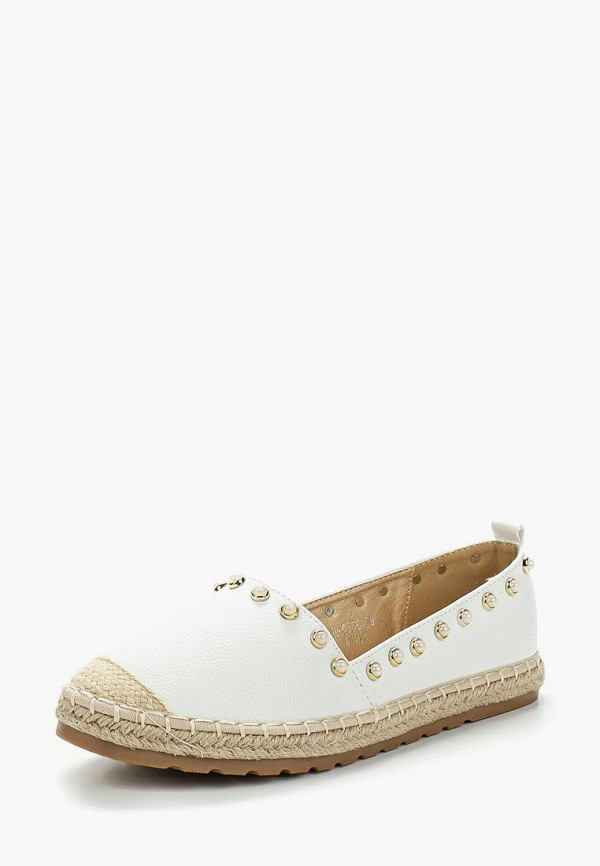 Купить Эспадрильи Ideal Shoes, ID007AWBADK0, белый, Весна-лето 2018