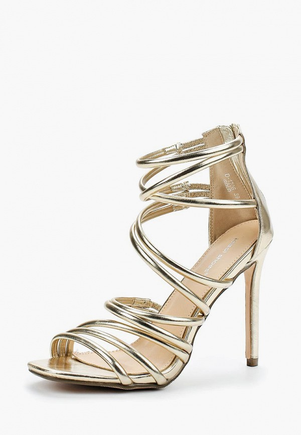 Купить Босоножки Ideal Shoes, id007awberi2, золотой, Весна-лето 2018
