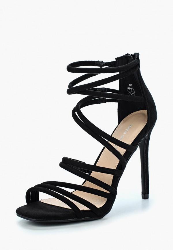 Купить Босоножки Ideal Shoes, ID007AWBGNA1, черный, Весна-лето 2018