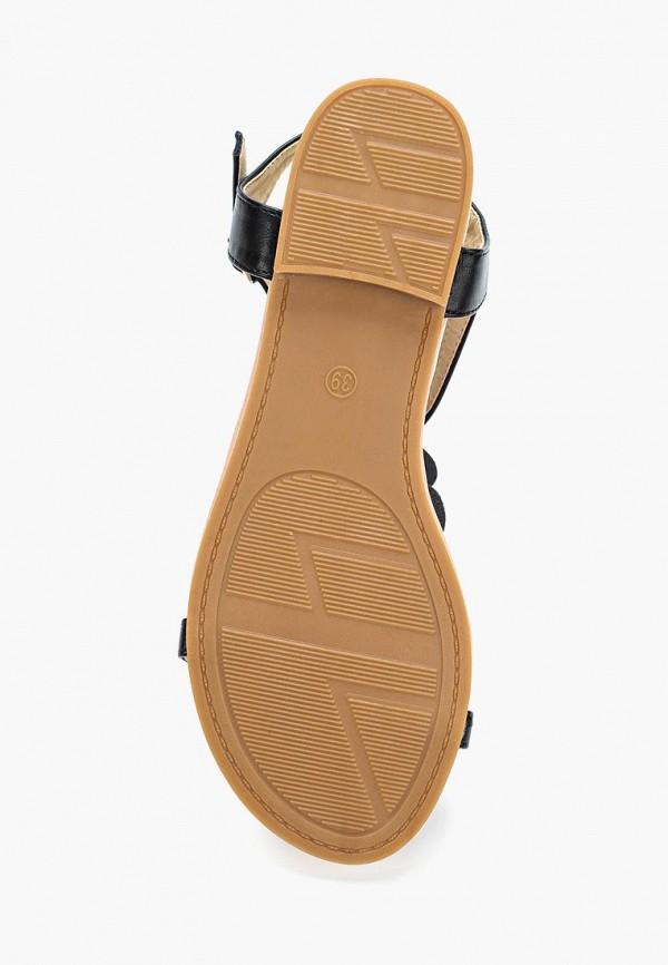 Фото 8 - женские сандали Ideal Shoes черного цвета