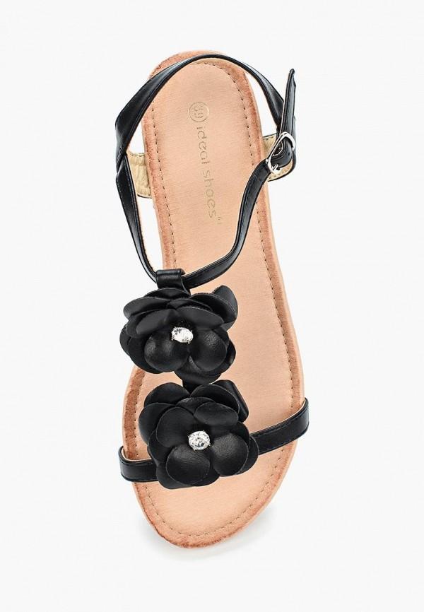 Фото 9 - женские сандали Ideal Shoes черного цвета