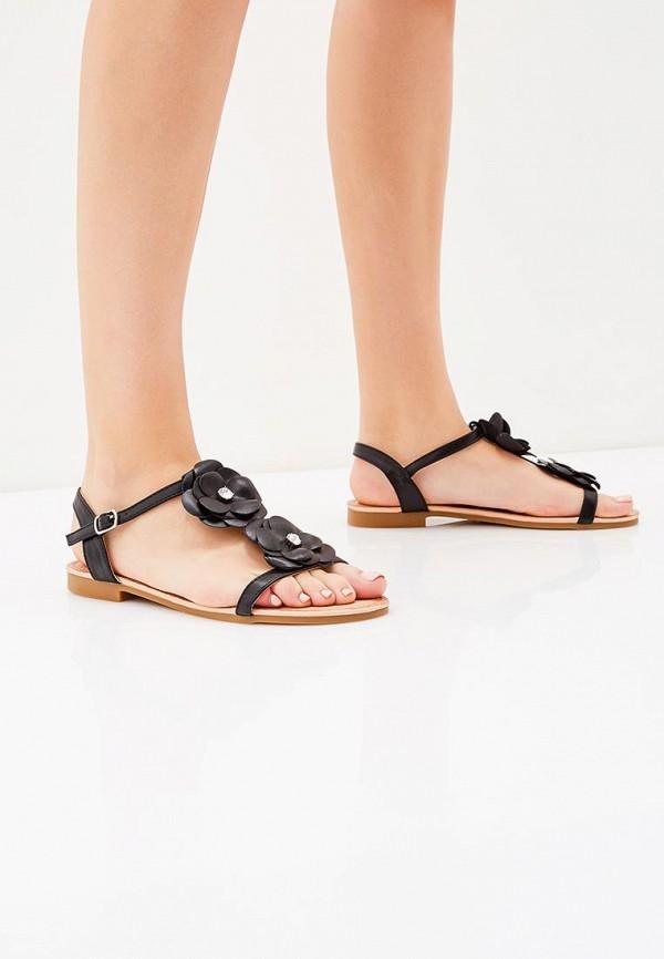 Фото 10 - женские сандали Ideal Shoes черного цвета