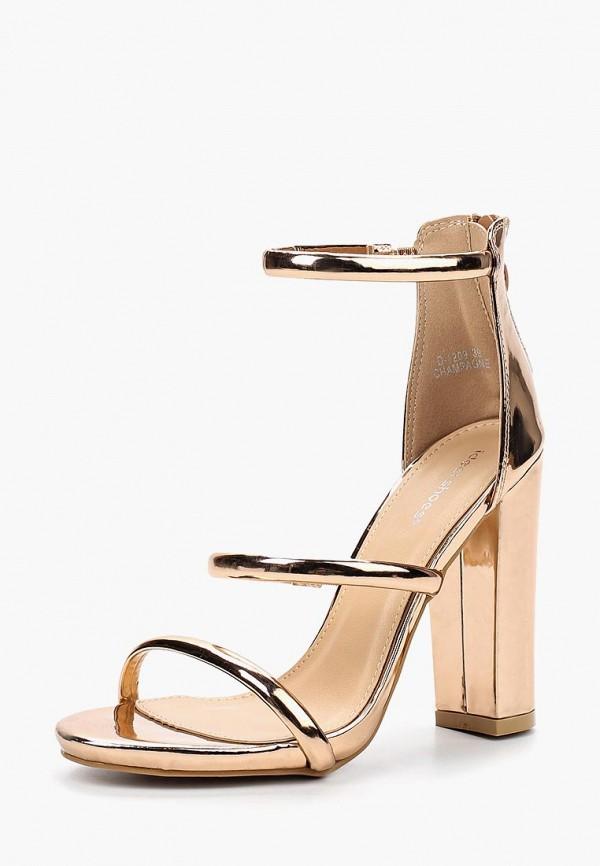 Купить Босоножки Ideal Shoes, ID007AWBOTI0, золотой, Весна-лето 2018