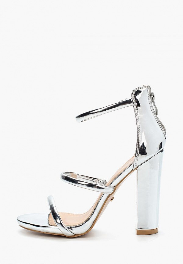 женские босоножки ideal shoes, серебряные