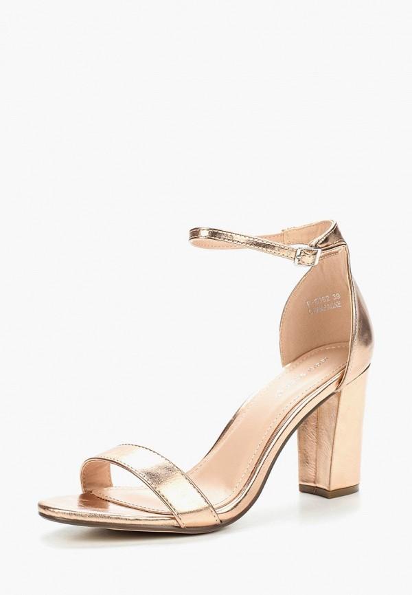 Купить Босоножки Ideal Shoes, id007awbotn3, золотой, Весна-лето 2018