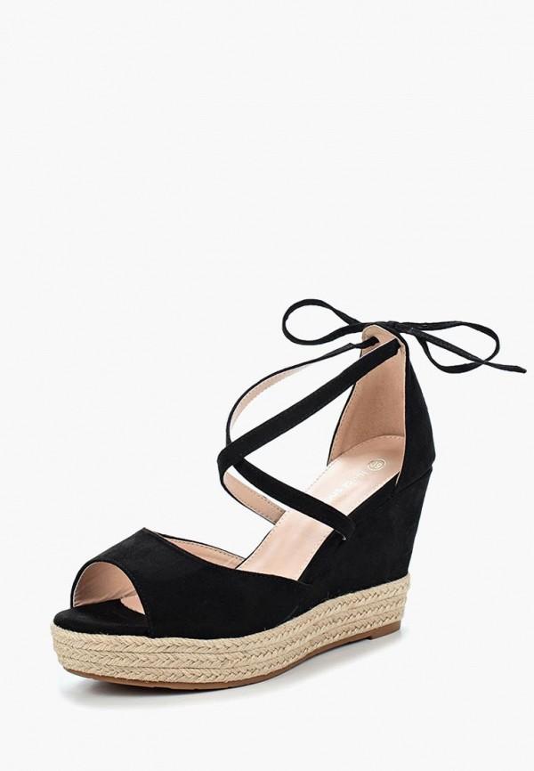 Купить Босоножки Ideal Shoes, ID007AWBQAB1, черный, Весна-лето 2018