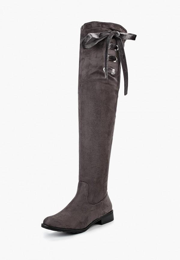 женские ботфорты ideal shoes, серые