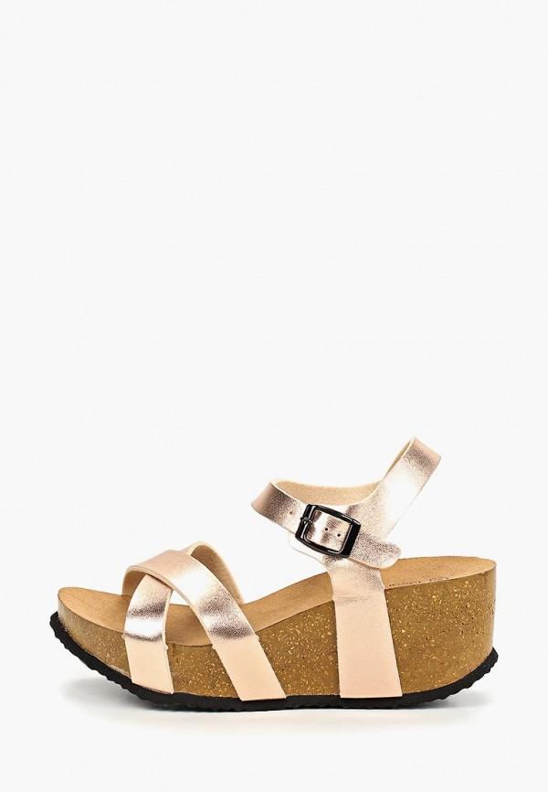 женские босоножки ideal shoes, золотые