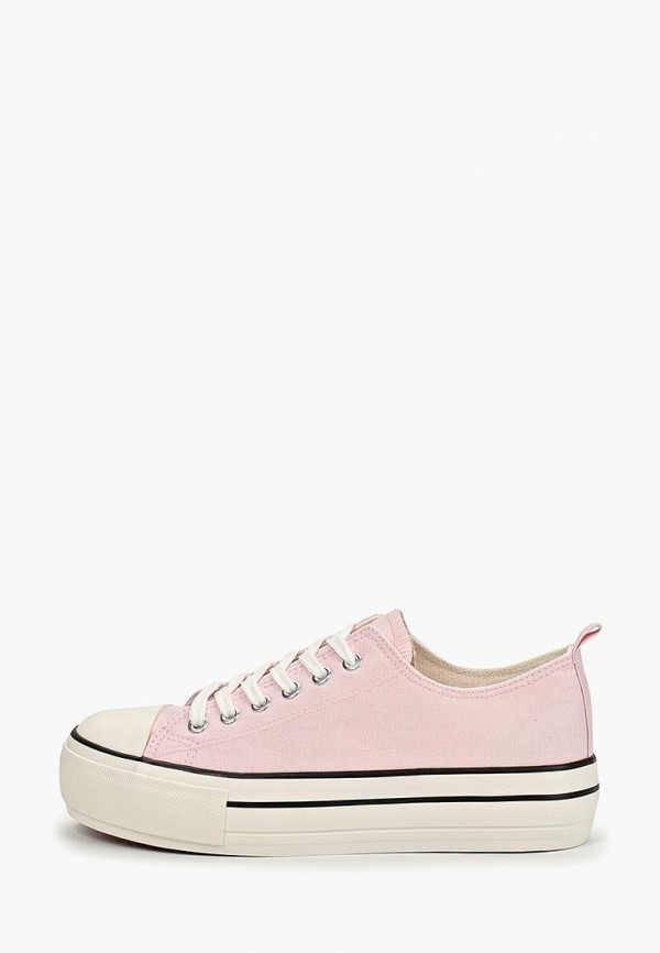 женские кеды ideal shoes, розовые