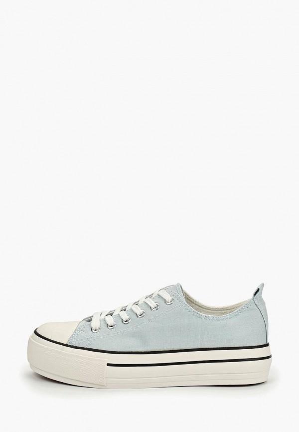 женские кеды ideal shoes, голубые