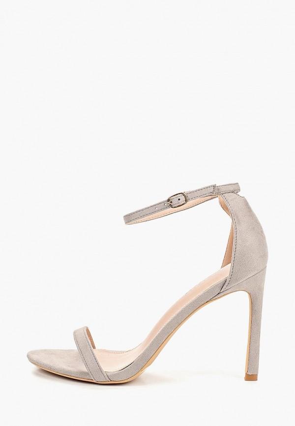 женские босоножки ideal shoes, серые