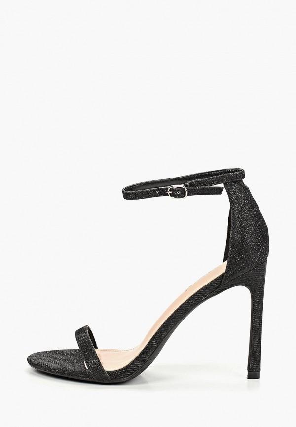 женские босоножки ideal shoes, черные