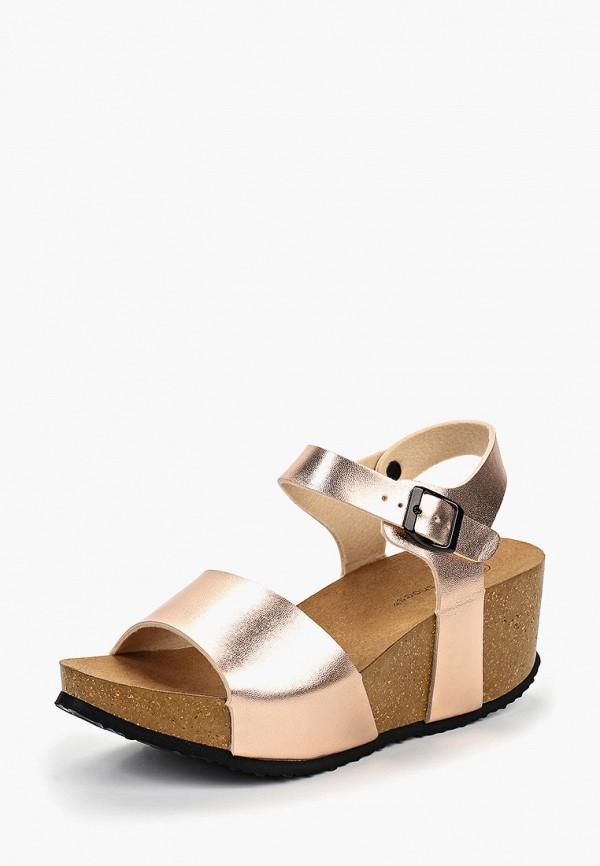 Фото 2 - женские босоножки Ideal Shoes золотого цвета
