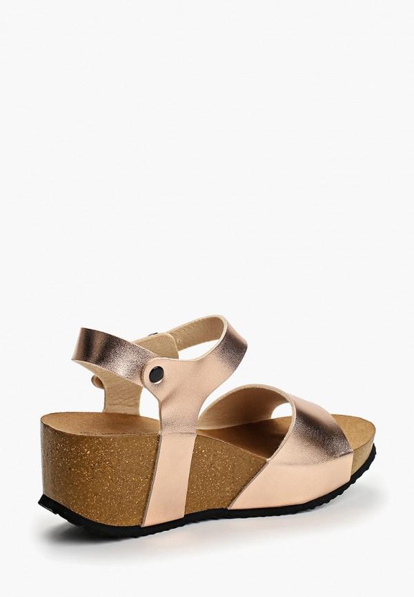 Фото 3 - женские босоножки Ideal Shoes золотого цвета