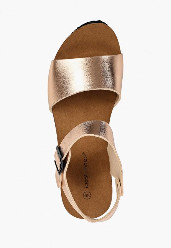 Фото 4 - женские босоножки Ideal Shoes золотого цвета