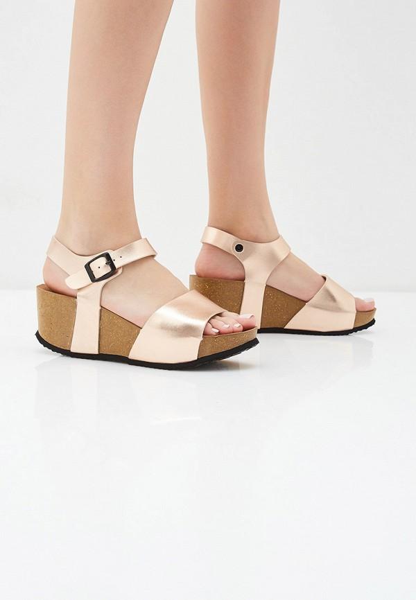 Фото 6 - женские босоножки Ideal Shoes золотого цвета