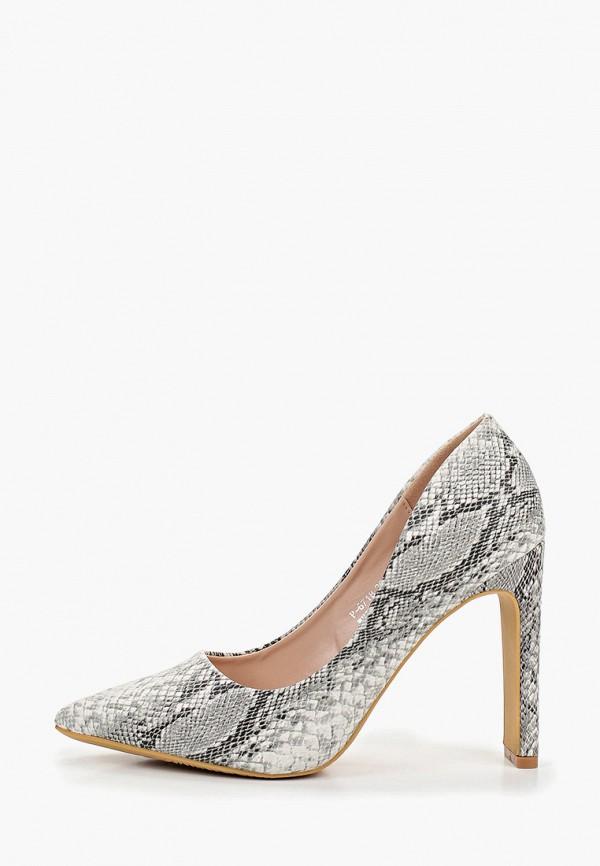 женские туфли ideal shoes, серые