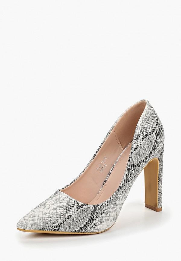 Фото 2 - женские туфли Ideal Shoes серого цвета