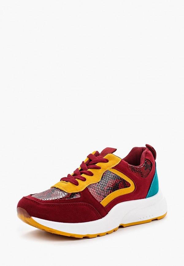 Фото 2 - женские кроссовки Ideal Shoes красного цвета
