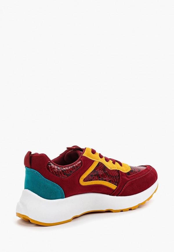 Фото 3 - женские кроссовки Ideal Shoes красного цвета