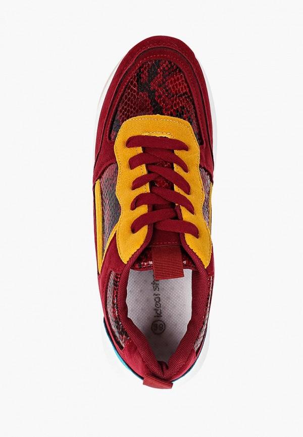 Фото 4 - женские кроссовки Ideal Shoes красного цвета